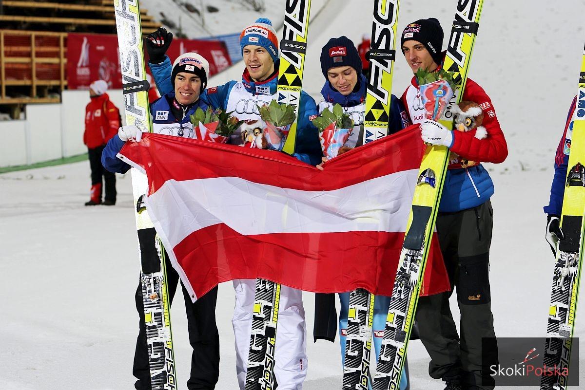 Jak srebrni medaliści z Falun zaprezentują się w Wiśle bez Gregora Schlierenzauera? Fot. Julia Piątkowska