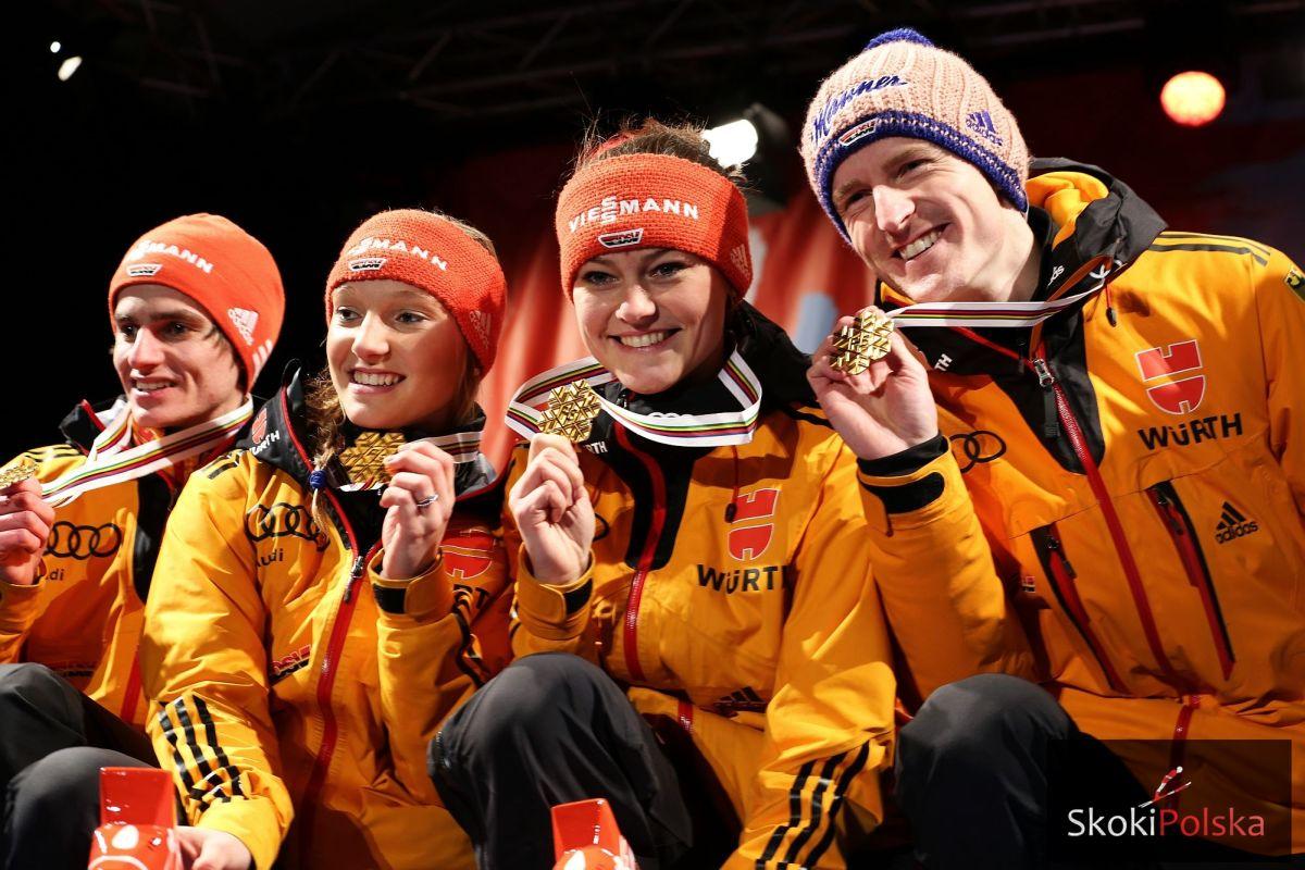 Falun.2015.mix Vogt Althaus Freund Freitag fot.Julia .Piatkowska - MŚ Lahti: 14 drużyn powalczy o medale w mikstach (LIVE)