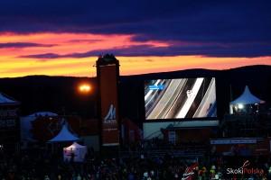Wieczorny widok ze skoczni Lugnet w Falun, fot. Julia Piątkowska