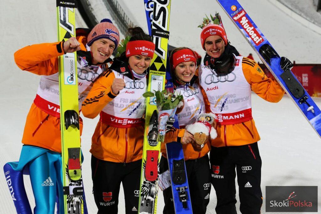 MŚ Falun: Niemcy przed Norwegami po zaciętym pojedynku w mikście