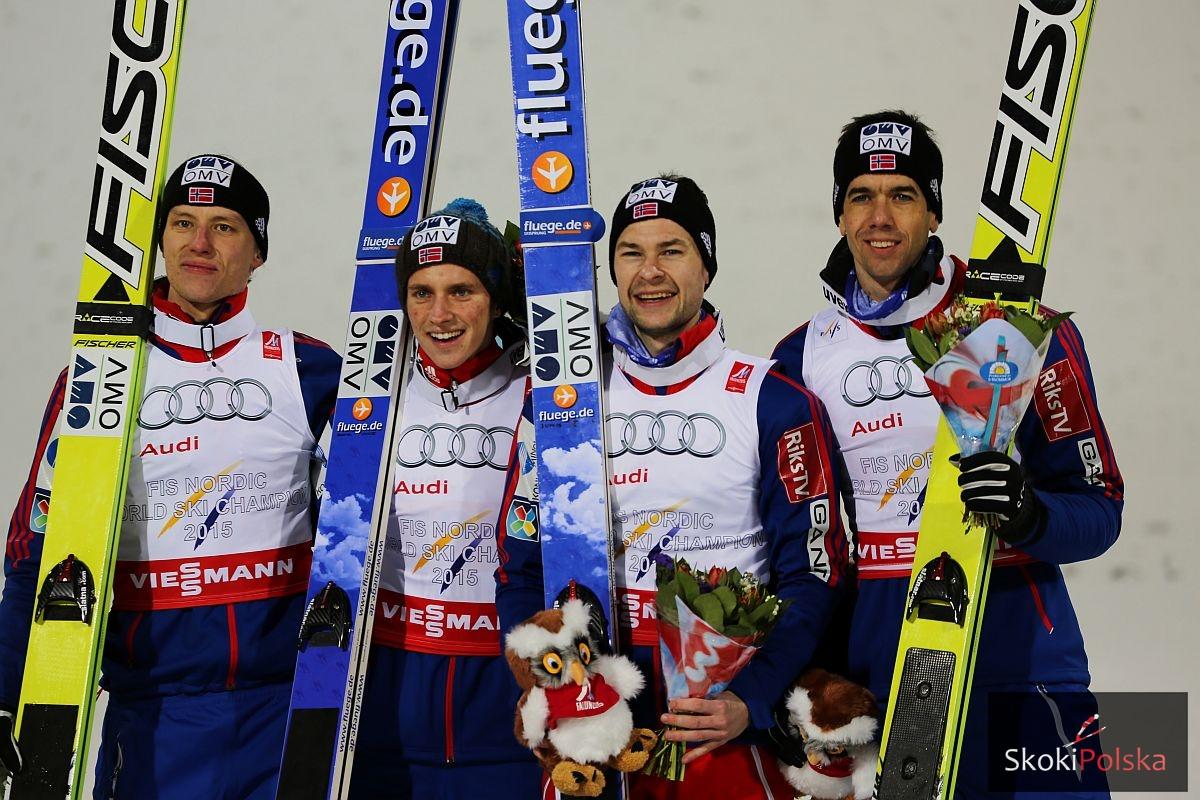 Norwegowie, mistrzowie świata w drużynie z Falun, fot. Julia Piątkowska