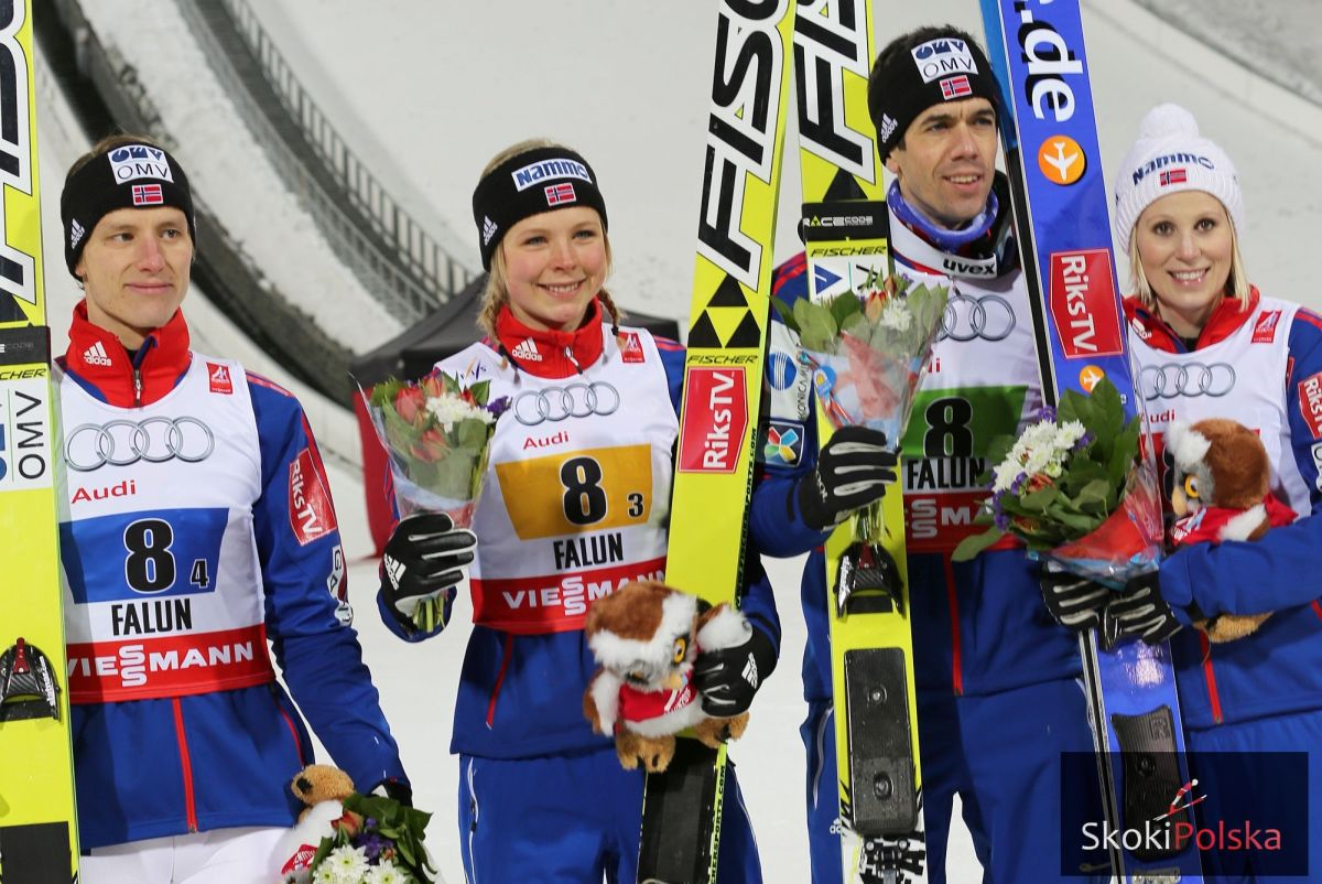 """Srebrna"" drużyna Norwegii (Velta, Lundby, Bardal, Jahr), fot. Julia Piątkowska"