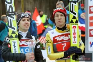 Simon Ammann i Noriaki Kasai, wielcy w przeszłości, pokonani w teraźniejszości, fot. Julia Piątkowska