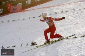 Telemark w wykonaniu Kamila Stocha (fot. Julia Piątkowska)