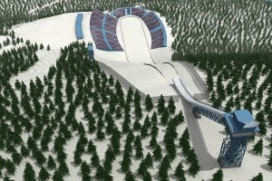 Projekt skoczni w Kemijaervi / Suomu, wizualizacja