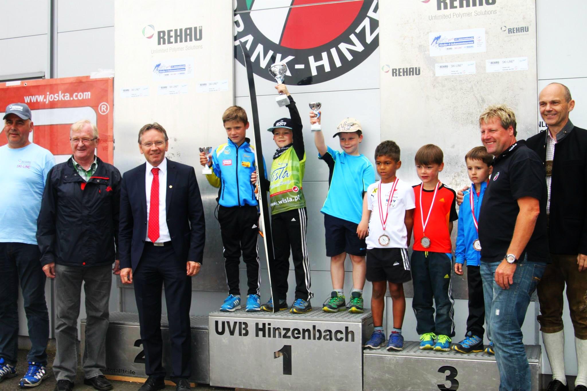 Tymoteusz Cienciała na najwyższym stopniu podium w Hinzenbach (fot. Andrzej Cienciała)
