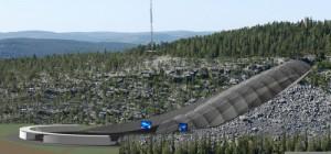 Projekt skoczni mamuciej w Yiltornio, wizualizacja: esark.fi