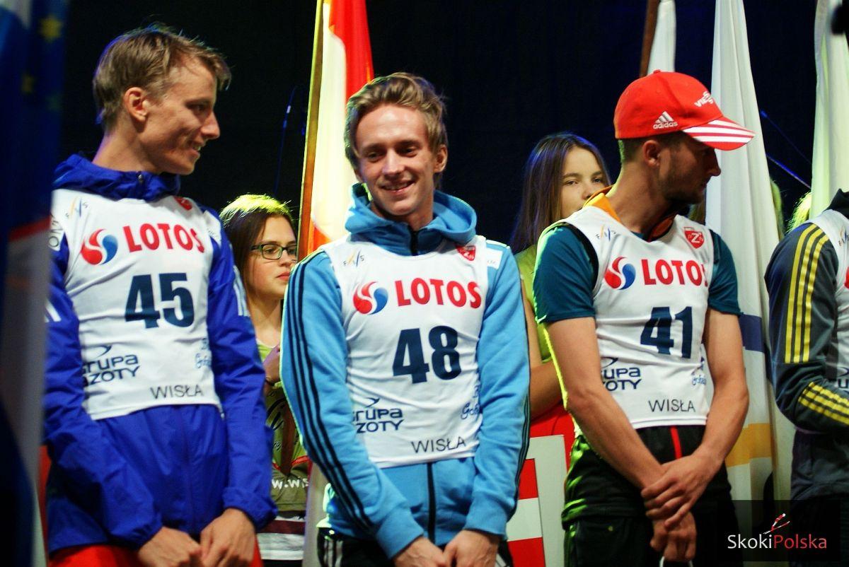 Rune Velta, Anders Fannemel i Markus Eisenbichler, fot. Bartosz Leja