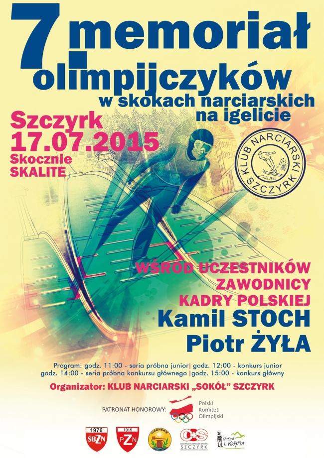 Memorial Olimpijczykow Szczyrk.2015 plakat - Już w piątek VII Memoriał Olimpijczyków w Szczyrku