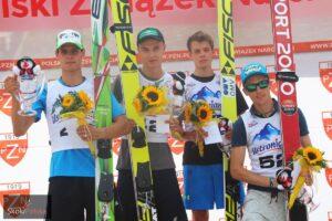 Podium drugiego konkursu LPK Wisła 2015 (od lewej: Rok Justin, Klemens Murańka, Philipp Aschenwald, Stefan Hula, fot. Julia Piątkowska
