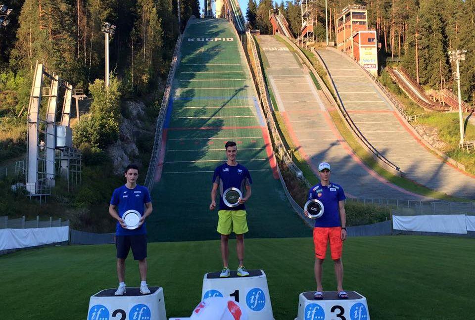 Ruda Altenburger Pograjc FIS.Cup .Kuopio.lato .2015 fot.Puijon.kisat .facebook - FIS Cup Kuopio: Altenburger wygrywa, Ruda na podium!