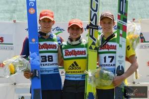 Podium konkursu z 2013 r. (od lewej: A.Wellinger, R.Freitag, M.Pungertar), fot. Stefan Piwowar