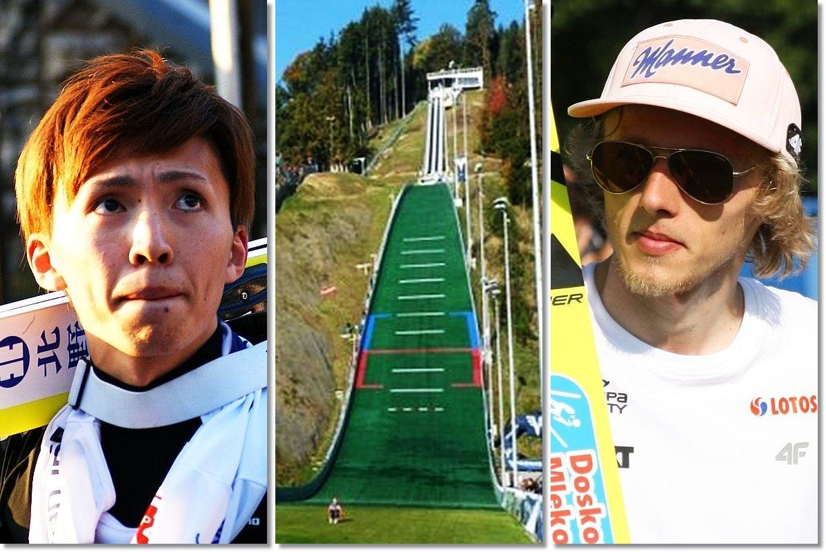 Czy Kento Sakuyama i Dawid Kubacki będą bohaterami finału w Hinzenbach? (fot. SkokiPolska / skisprungschanzen.com)