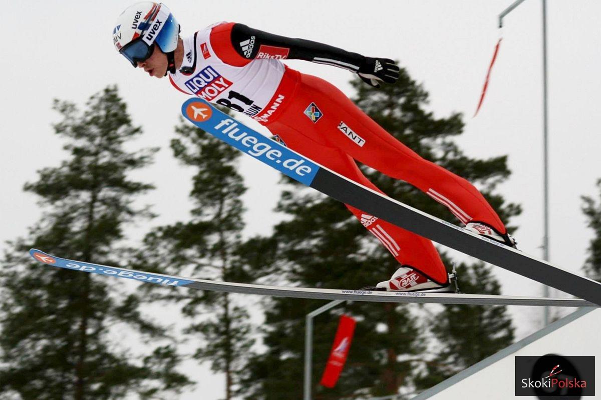 Anders Fannemel w nartach firmy Fluege.de (fot. Julia Piątkowska)