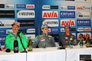 Severin Freund, Peter Prevc i Stefan Kraft, fot. Julia Piątkowska