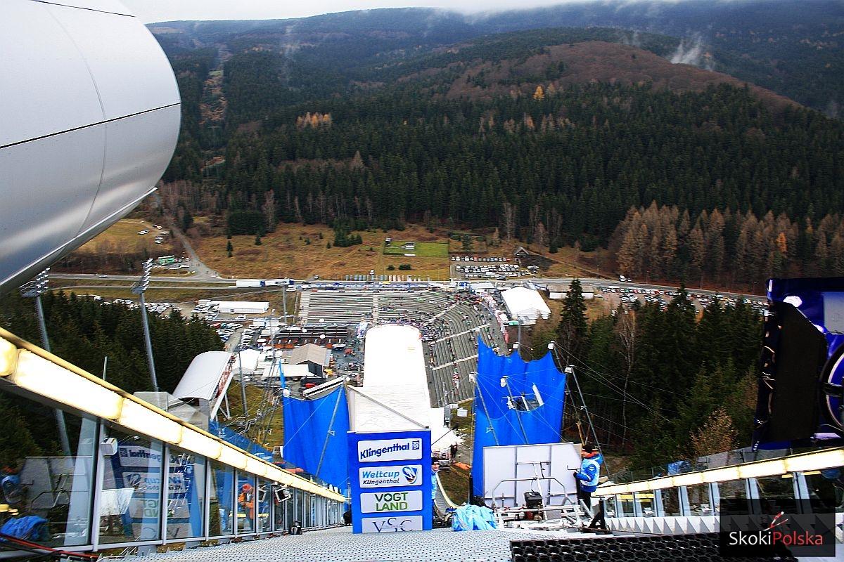 Widok ze szczytu Vogtland Areny w Klingenthal (fot. Julia Piątkowska)
