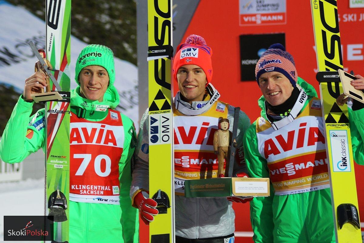 Najlepsza trójka konkursu (P.Prevc, D.A.Tande, S.Freund), fot. Julia Piątkowska