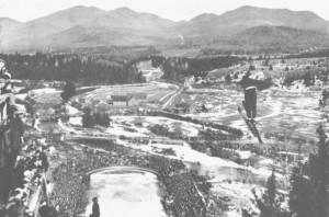 Birger Ruud w Lake Placid w 1932 roku, fot. Acme Photos