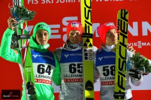 """WC.Lillehammer.2015.podium.2nd.comp Prevc Gangnes Forfang fot.Julia .Piatkowska 300x200 - Udany weekend Norwegów, Gangnes: """"Spełniłem marzenie małego chłopca"""""""