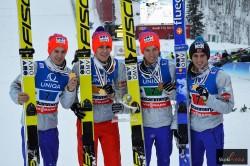 norwescy mistrzowie w lotach: Gangnes, Tande, Forfang i Fannemel, fot. JP