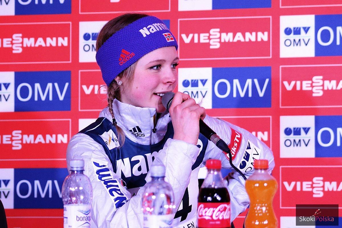 """Lundby Maren press Oslo.2016 fot.Julia .Piatkowska - Skoczkinie po Oslo, Lundby: """"Powinnyśmy mieć więcej takich konkursów"""""""