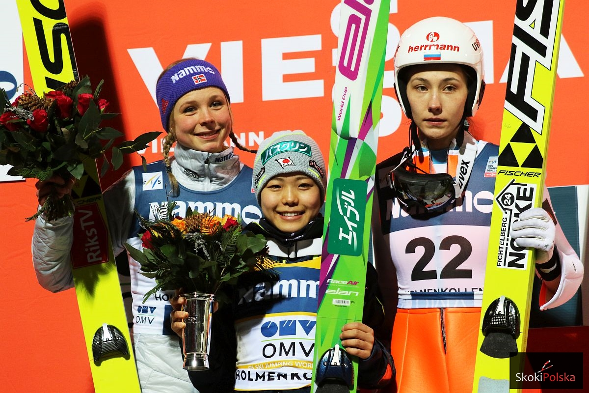 Lundby Takanashi Avvakumova PS.Pan .Oslo .2016 fot.Julia .Piatkowska - PŚ Pań Oslo: Takanashi bije kolejne rekordy, Lundby na podium!