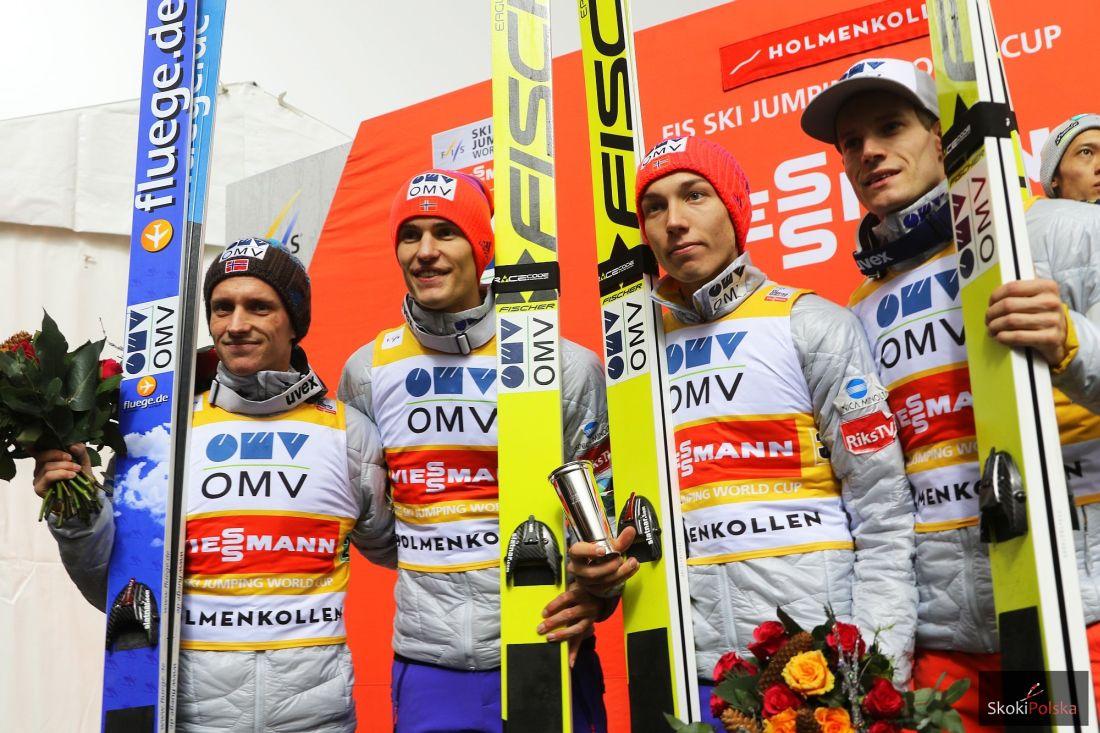 Najmocniejsi Norwegowie minionej zimy (Fannemel, Tande, Forfang, Gangnes), fot. Julia Piątkowska