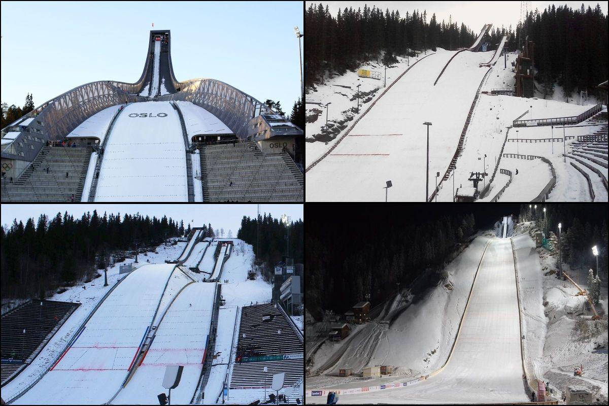 Areny przyszłego norweskiego TCS - skocznie w Oslo, Trondheim, Lillehammer i Vikersund (fot. J.Piątkowska / E.Thorbergsen / G.A.Granviken)