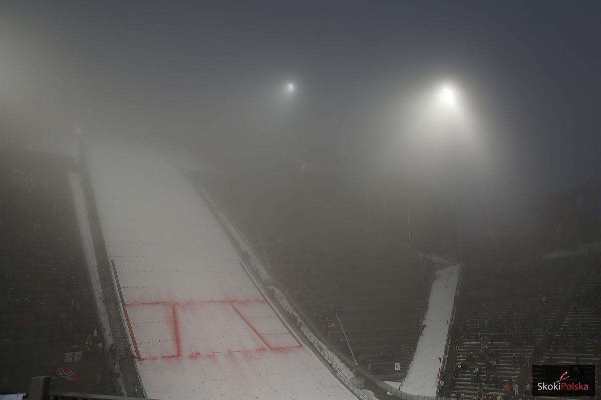Holmenkollbakken w Oslo we mgle, fot. Julia Piątkowska