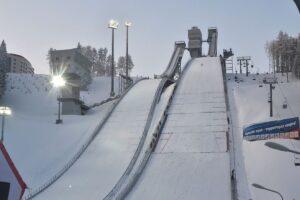 """Kompleks skoczni """"Śnieżynka"""" w Czajkowskim (fot. FIS Ski Jumping Chaikovsky)"""