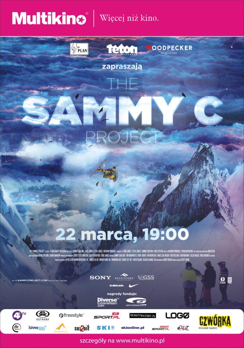 """Sammy Carlson The.Sammy .C.Project fot.materialy.organizatora.tetongravity.com .PLAKAT - """"The Sammy C Project"""" – superprodukcja narciarska 22 marca w Multikinie! (WIDEO)"""
