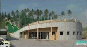 Wizualizacja projektu skoczni w Chochołowie / CADO Pracownia Projektowa / cado.com.pl