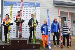 Czołowa szóstka konkursu mężczyzn, fot. SM-hiihdot 2016, Taivalkoski