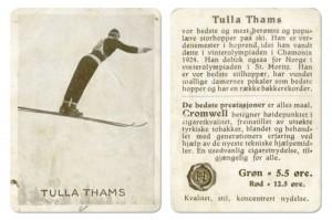 Kolekcjonerska karta z paczki norweskich papierosów z lat 20' i 30' XX wieku, fot. Municipal Archives of Trondheim / CC BY 2.0