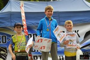 Podium w kategorii junior E (od lewej: T.Cienciała, T.Amilkiewicz, R.Rafacz), fot. Bartosz Leja