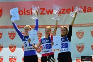 Podium konkursu kobiet (od lewej: G.Noskova, A.Shpyneva, M.Aleksandrova), fot. Bartosz Leja