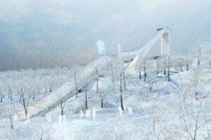 Moskwa - jedna z wizualizacji projektu skoczni (fot. stroi.mos.ru)