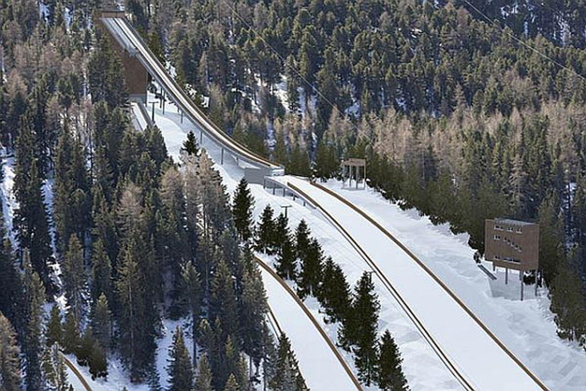 Wizualizacja kompleksu skoczni w Sankt Moritz z 2013 roku, fot.swiss-ski.ch