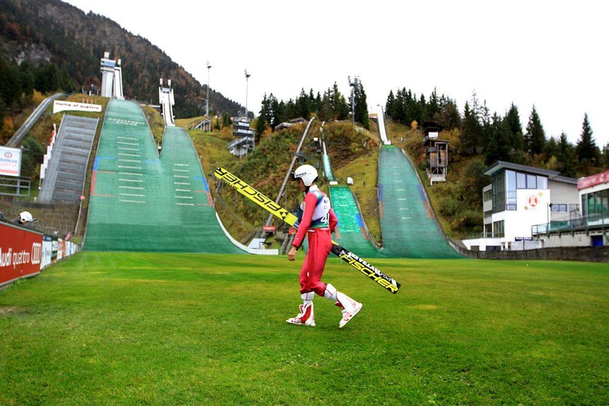 Piotr Żyła na skoczniach w Oberstdorfie (fot. Alicja Kosman / PZN)