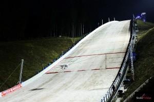Naśnieżona Vogtland Arena w Klingenthal w 2013 r. (fot. Julia Piątkowska)