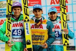 Wellinger.Kot .Stoch podium.LGP .2016 fot.Julia .Piatkowska 300x200 - LGP Klingenthal: Kot wygrywa z rekordem skoczni, Stoch na podium!