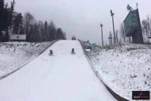 Skocznia w Wiśle Malince podczas zeszłorocznych przygotowań do zimy (fot. Julia Piątkowska)