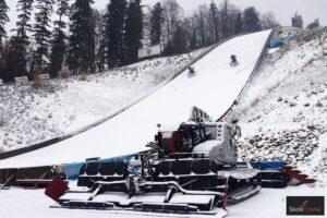 Śnieg w Wiśle – trwają przygotowania na skoczni im. Adama Małysza! (FOTO)