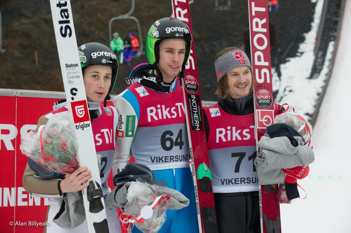 PK Vikersund: Dublet Słoweńców, biało-czerwoni bez podium i poniżej oczekiwań