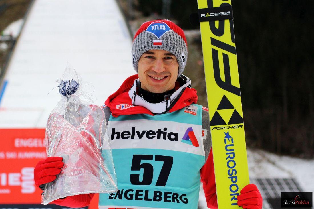 Stoch Kamil Engelberg.2016.podium fot.Julia .Piatkowska - Puchar Świata - Engelberg 2016 (FOTORELACJA)