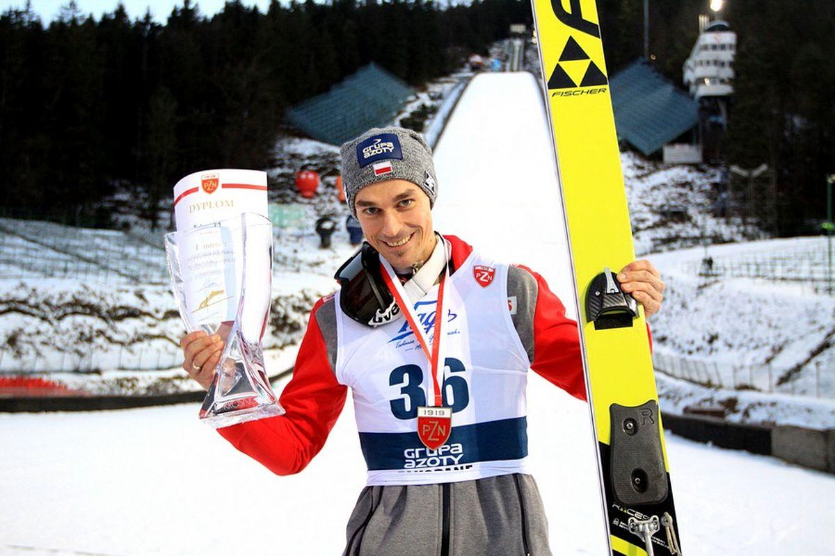 Mistrz Polski - Piotr Żyła (fot. Alicja Kosman / PZN)