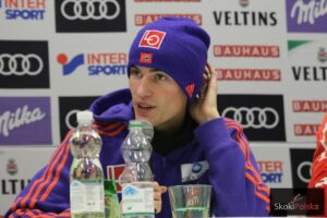 Tylko Norwegom było do śmiechu w Innsbrucku. Tu jeden z nich - Daniel-Andre Tande (fot. Julia Piątkowska)