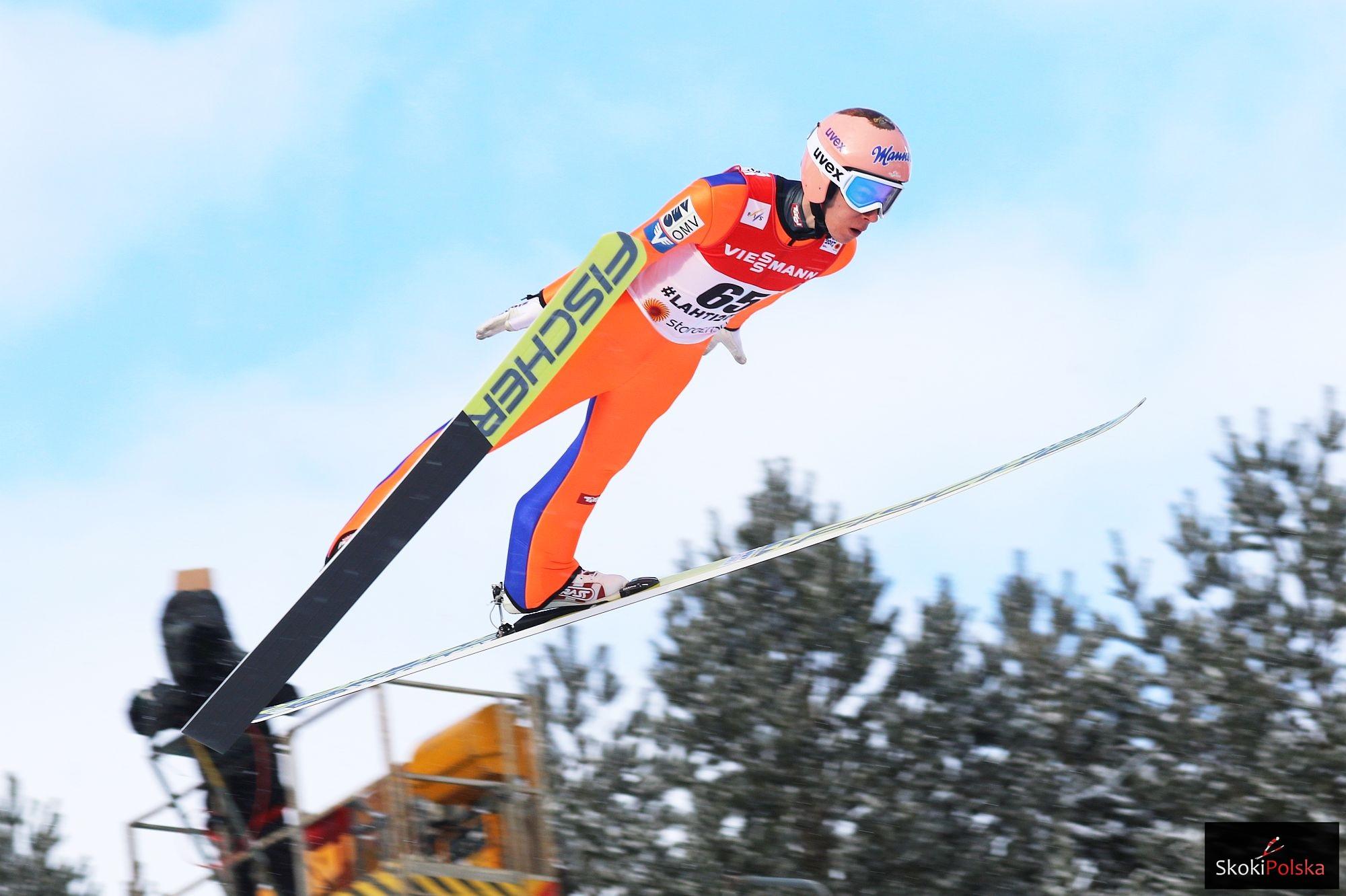 Rekordzista świata (253,5 m) Stefan Kraft (Austria)