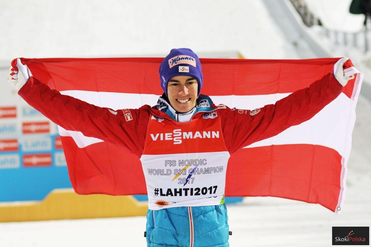 Stefan Kraft - mistrz świata z 2017 r. z Lahti (fot. Julia Piątkowska)