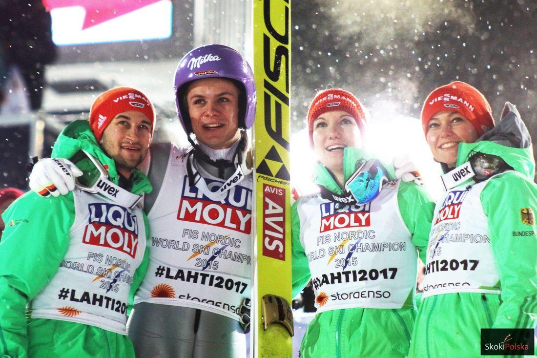 Niemiecka drużyna mieszana (M.Eisenbichler, A.Wellinger, S.Wuerth, C.Vogt), fot. Julia Piątkowska
